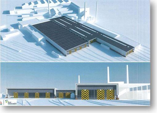 Nieuwbouw HAL C NedTrain Te Maastricht