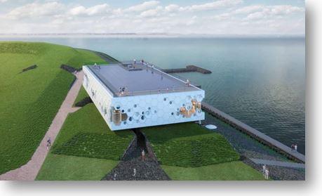 """Nieuwbouw """"Beleefcentrum Afsluitdijk"""" Aan De Afsluitdijk"""